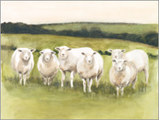 Canvas-taulu  Sheep in the pasture - Victoria Borges