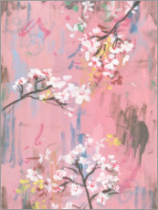 Galleriataulu  Cherry blossoms on pink - Melissa Wang
