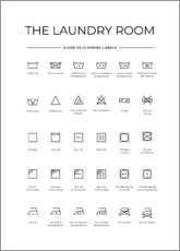 Juliste  Clothing labels - Typobox