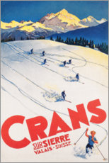Akryylilasitaulu  Crans-Montana (French) - Travel Collection