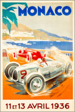 Akryylilasitaulu  Grand Prix of Monaco 1936 (French) - Travel Collection