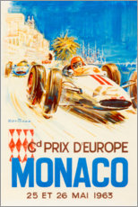 Canvas-taulu  Grand Prix of Monaco 1963 (French) - Travel Collection