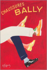 Akryylilasitaulu  Bally shoes (french) - Advertising Collection