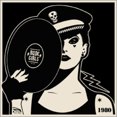 Canvas-taulu  Rude Girls Records I - dolceQ