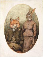 Galleriataulu  Mr. Fox and Mrs. Rabbit - Mike Koubou