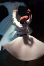 Akryylilasitaulu  Whirling dervishes while dancing - Keren Su