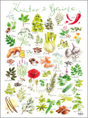 Juliste  Herbs and spices (german) - Andreas Hirsch