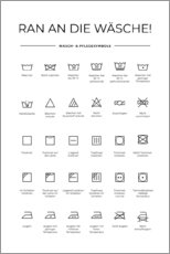 Galleriataulu  Washing and care symbols (German) - Typobox