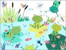Canvas-taulu  Frog pond - Pope Twins