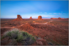Juliste Monument Valley in the sunset