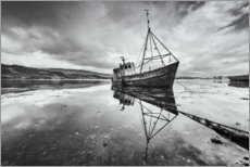 Juliste  Old shipwreck in the mirroring lake - The Wandering Soul