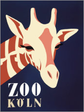 Canvas-taulu  Zoo Cologne (German) - Advertising Collection