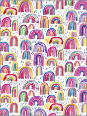 Sisustustarra  Colorful watercolor rainbows - Ninola Design