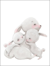 PVC-taulu  Cuddly bunnies - Kidz Collection
