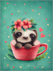 Juliste Sweet sloth in a cup