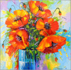 Canvas-taulu  Bouquet of poppies - Olha Darchuk