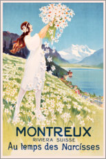 Akryylilasitaulu  Montreux (French) - Travel Collection