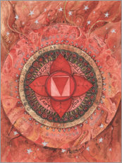 Canvas-taulu  Root chakra - Maria Forrester
