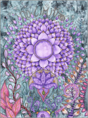 Canvas-taulu  Crown chakra - Maria Forrester