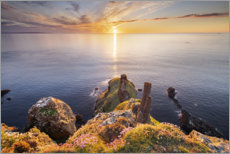 PVC-taulu  Sunset on the cliffs in Ireland - The Wandering Soul