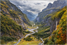 Akryylilasitaulu  Remote valley in the Alps - The Wandering Soul