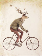 Puutaulu  Deer on the bike - Mike Koubou