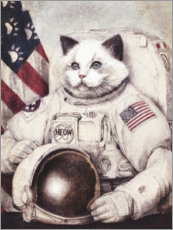 Canvas-taulu  Meow out of Space - Mike Koubou