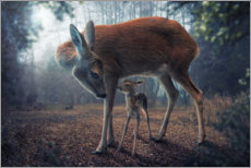 Juliste Mother and fawn