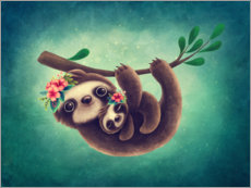 Juliste Cute Sloth with Baby