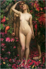 Akryylilasitaulu  Adam and Eve with the snake - Byam Shaw