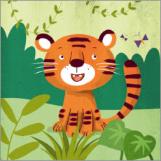 PVC-taulu  Little tiger - Julia Reyelt