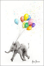 Juliste Elephant with balloons