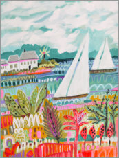 Juliste Two Sailboats and Cottage II