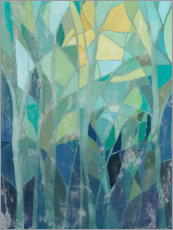 Canvas-taulu  Stained Glass Forest I - Grace Popp