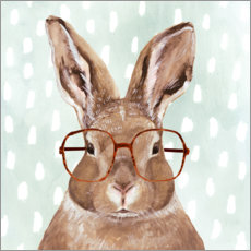 Canvas-taulu  Bunny with glasses - Victoria Borges