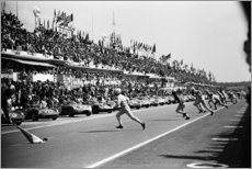 Puutaulu  Start of the 24 Hours of Le Mans race, 1963
