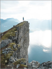 Juliste The cliff above the fjord