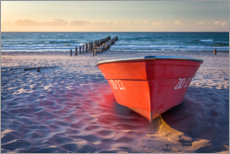 Juliste Red boat at the Baltic Sea