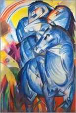 Canvas-taulu  The tower of blue horses - Franz Marc