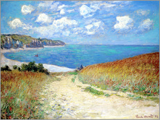 Galleriataulu  Path through the Wheat at Pourville - Claude Monet