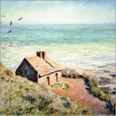 Alumiinitaulu  Fisherman's Hut, Varengeville - Claude Monet