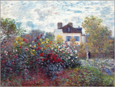 Akryylilasitaulu  The Artist's Garden in Argenteuil - Claude Monet