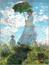 Sisustustarra  Woman with a parasol - Madame Monet and her son - Claude Monet