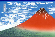 Galleriataulu  Mt. Fuji in clear weather - Katsushika Hokusai