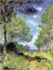 Canvas-taulu  Conifers in Varengeville - Claude Monet