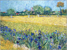 Sisustustarra  View of Arles with irises in the foreground - Vincent van Gogh