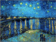 Juliste  Starry Night Over the Rhone - Vincent van Gogh