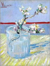 Canvas-taulu  Blossoming almond branch in a glass - Vincent van Gogh