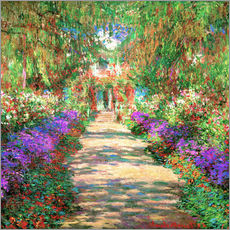 Galleriataulu  A Pathway in Monet's Garden - Claude Monet