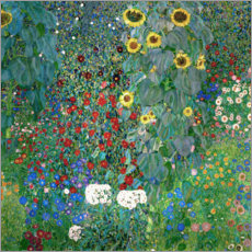 Juliste  Garden with Sunflowers - Gustav Klimt